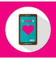 Valentine message flat icon with long shadow vector image vector image