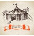 Hand drawn sketch circus and amusement vector image