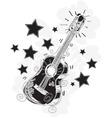 abstract guitar sketchy vector image vector image