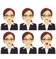Business woman set vector image