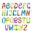 Rainbow ribbon alphabet vector image