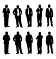 Business man figure vector image