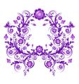 floral ornament frame vector image