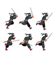 Ninja Running Game Sprite vector image