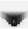 Oil barrels set vector image