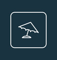 parasol outline symbol premium quality isolated vector image