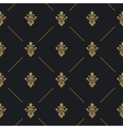 Seamless pattern decor with golden element vector image