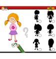 shadows activity for children vector image