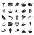 Simple black style Food Icon Set vector image