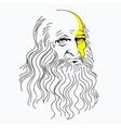 portrait of Leonardo da Vinci vector image