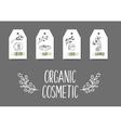 Organic cosmetics tags vector image