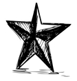 Star symbol in doodle style vector image vector image