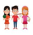 group kids sport active vector image