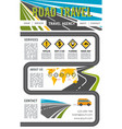 landing page site for road travel company vector image vector image