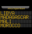 africa country digital board information vector image