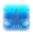 2018 christmas background vector image