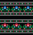 Seamless Polish folk art pattern with flowers vector image