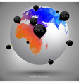 earth globe infographic vector image
