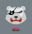 Polar Bear head Angry bear logo Hockey emblem vector image vector image