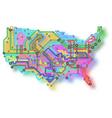 usa underground map vector image