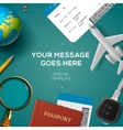Travelling template travel and vacation concept vector image