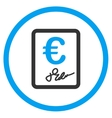 Euro Contract Rounded Icon vector image