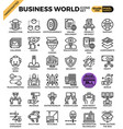 business world icons vector image