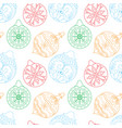 christmas ball seamless pattern vector image