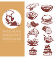 common food beautiful chef and meal collection vector image