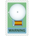 Electric bell on stamp vector image