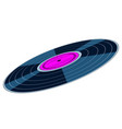 gramophone record disk icon vector image