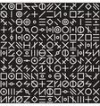 Seamless Black and White Geometric Random vector image
