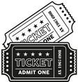 vintage modern ticket vector image