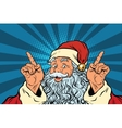 Santa Claus makes a gesture of attention vector image