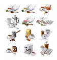 coffee and tea drinks vector image