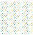 Cute little colorful water drops rain pattern vector image