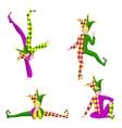 joker different poses vector image