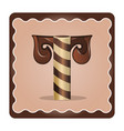 letter t candies vector image