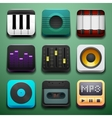 Music background for the app icons vector image