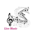 Live Music poster template vector image