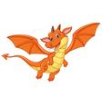 Cartoon happy dragon vector image