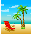 summer with palm trees vector image vector image