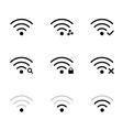 wifi network vector image