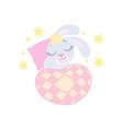 Bunny Sleeping In Bed vector image vector image