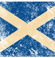 Scotland retro flag vector image