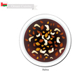 Halwa or Omani Corn Starch Jelly with Saffron vector image