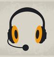 headphones listen and speak vector image