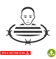 Isolated Prisoner EPS Icon vector image