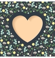 Meadow flowers heart vector image