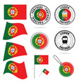 portugal flag in color design vector image